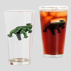 Mean Alligator Drinking Glass