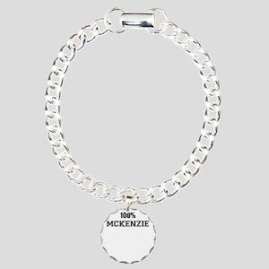 100% MCKENZIE Charm Bracelet, One Charm