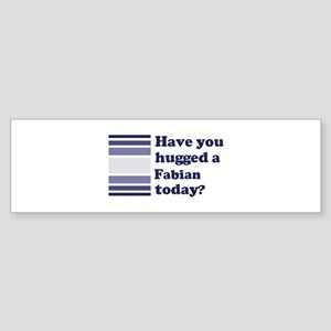 Hugged Fabian Bumper Sticker