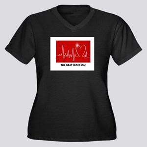 The Beat Goes On - Post Heart At Plus Size T-Shirt