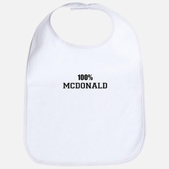 100% MCDONALD Bib
