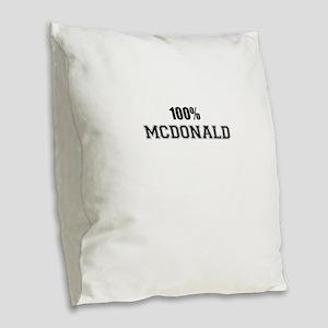 100% MCDONALD Burlap Throw Pillow