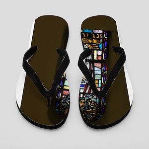 church stained glass window Flip Flops