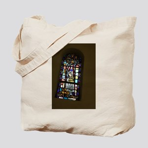 church stained glass window Tote Bag