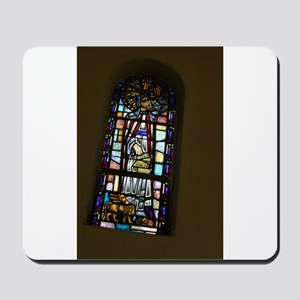 church stained glass window Mousepad