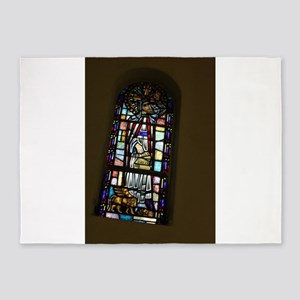 church stained glass window 5'x7'Area Rug