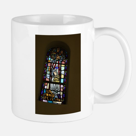 church stained glass window Mugs
