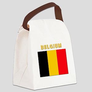 Flag Of Belgium W Txt Canvas Lunch Bag