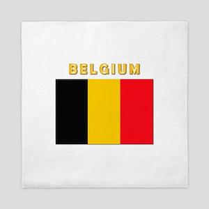 Flag Of Belgium W Txt Queen Duvet