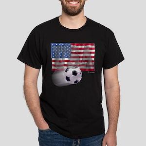Soccer Flag USA Dark T-Shirt
