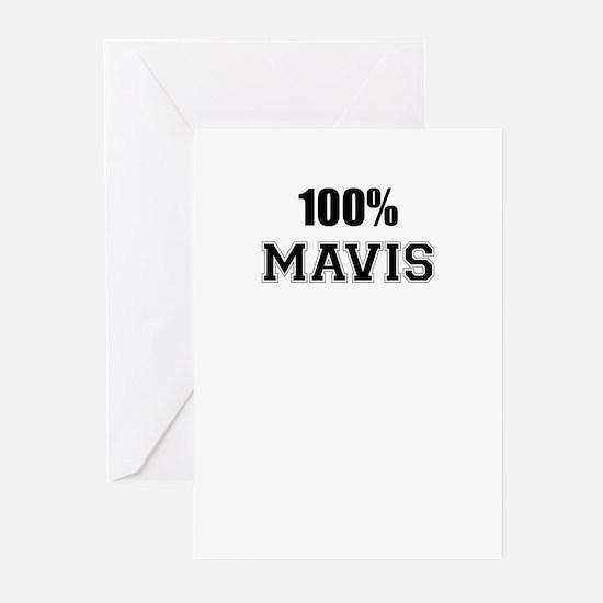 100% MAVIS Greeting Cards