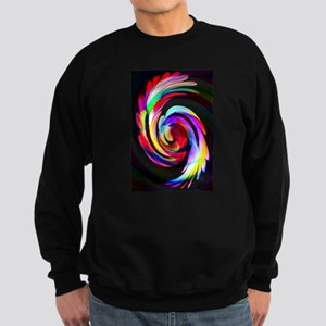 Bright Feather Swirl Sweatshirt (dark)