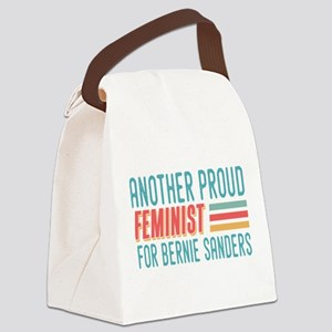 Another Proud Feminist For Bernie Canvas Lunch Bag