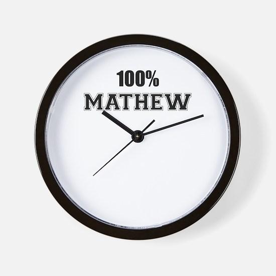 100% MATHEW Wall Clock