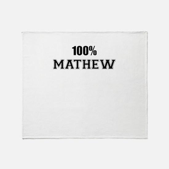 100% MATHEW Throw Blanket