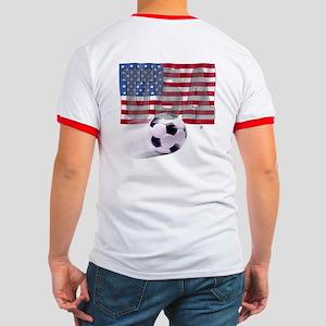 Soccer Flag USA (B) Ringer T