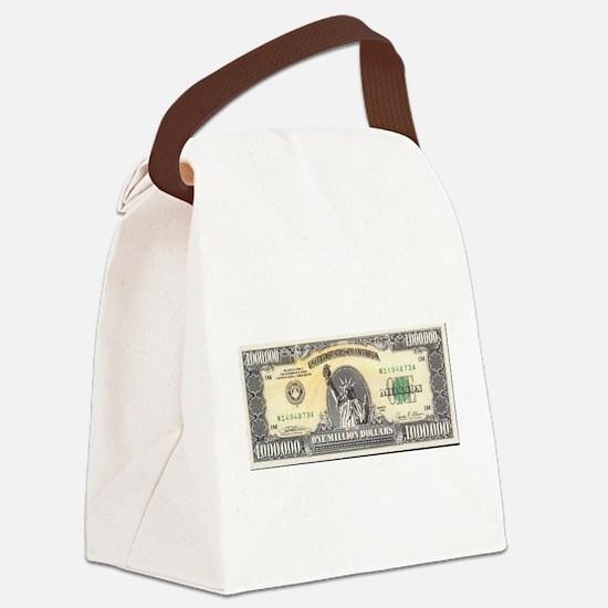 Million Dollar Canvas Lunch Bag