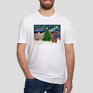 Xmas Magic/Border T Fitted T-Shirt