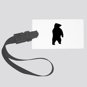 Bear Silhouette Large Luggage Tag