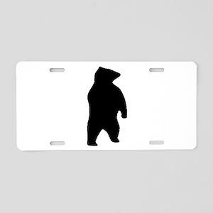 Bear Silhouette Aluminum License Plate