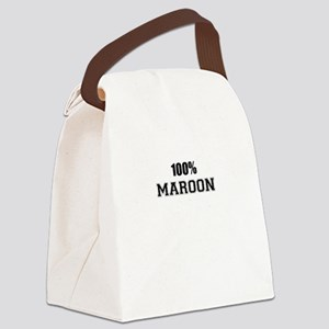 100% MAROON Canvas Lunch Bag