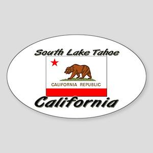 South Lake Tahoe California Oval Sticker