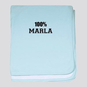 100% MARLA baby blanket