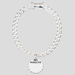 100% MARILYN Charm Bracelet, One Charm