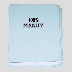 100% MANDY baby blanket