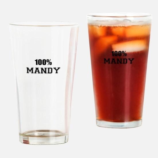 100% MANDY Drinking Glass