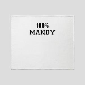 100% MANDY Throw Blanket