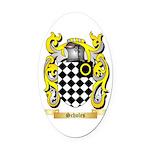 Scholes Oval Car Magnet