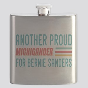 Another Proud Michigander For Bernie Flask