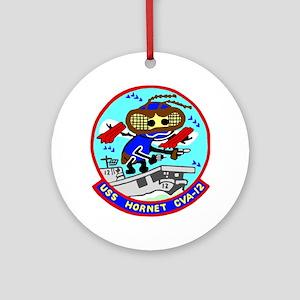 USS Hornet (CVA 12) Ornament (Round)