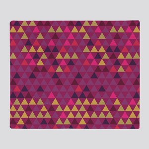 Triangle Colors GeoMetric Pattern Throw Blanket