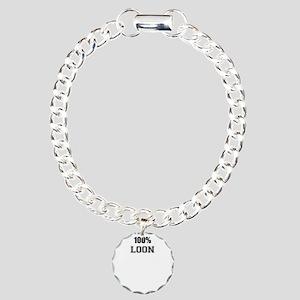 100% LOON Charm Bracelet, One Charm