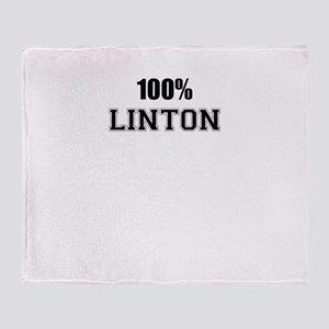 100% LINTON Throw Blanket