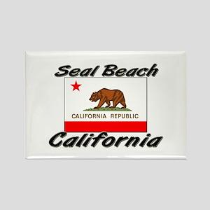Seal Beach California Rectangle Magnet