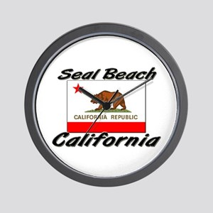 Seal Beach California Wall Clock