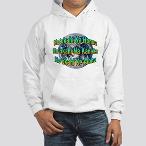 One Earth/People/Love Hooded Sweatshirt