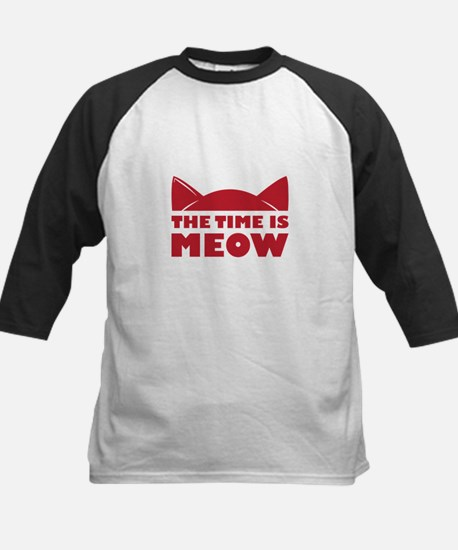 Time Is Meow Baseball Jersey