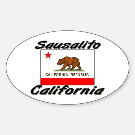 Sausalito California Oval Decal