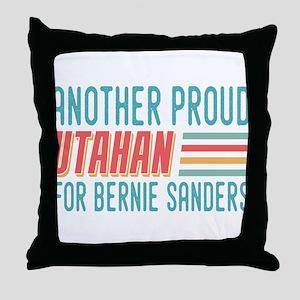 Another Proud Utahan For Bernie Throw Pillow