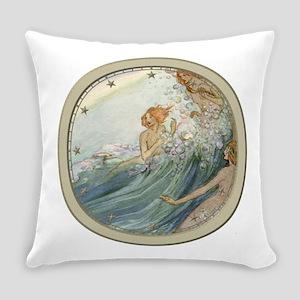 Mermaids - Sea Fairies Everyday Pillow
