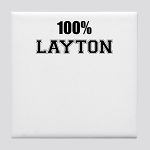 100% LAYTON Tile Coaster