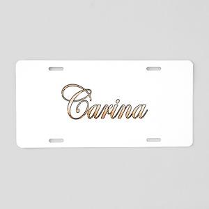 Gold Carina Aluminum License Plate