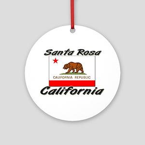 Santa Rosa California Ornament (Round)