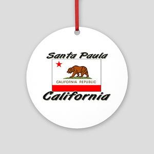 Santa Paula California Ornament (Round)