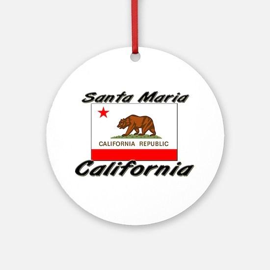 Santa Maria California Ornament (Round)