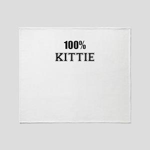 100% KITTIE Throw Blanket